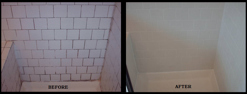 Shower Tile Grout Restoration
