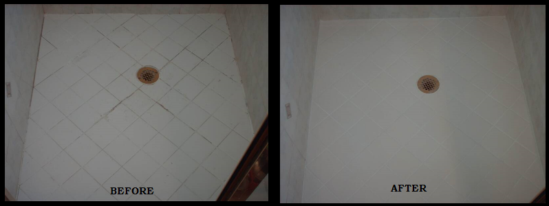 Shower Tile Cleaning and Regrouting