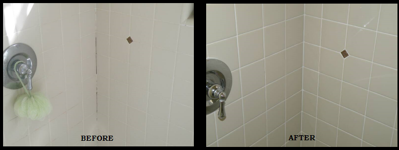 Shower Tile Grout Repair