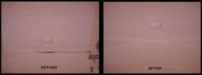 Bathroom caulk and grout mold cleaned